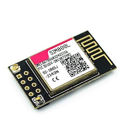 SIM800L GPRS GSM Module, SIM Card Core Board TTL SPI Wireless Module with Low Power Consumption 850/900/1800/1900MHz and Delivers Voice