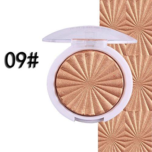 3D Shimmer Baked Highlighter,Fenleo 1PC Face Powder Palette Face Base shine Illuminator Makeup