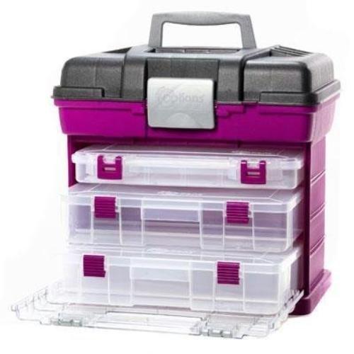 Creative Options Creative Options Pro Latch Storage System-10.875X5.5X1.75 Clear W//Magenta