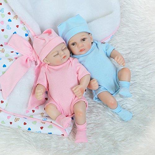 9df5c644649 MaiDe Mini 10 inch Real Life Cute Newborn Baby Dolls Sleeping Girl And Boy  Full Body