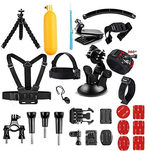 AKASO Caméra Sport 14 Accessoires en 1 Pack pour Gopro Hero AKASO V50 Elite V50X V50 Pro EK7000 Brave 4 EK7000 Pro Dragon Touch Vision3 Vision 4 Lite