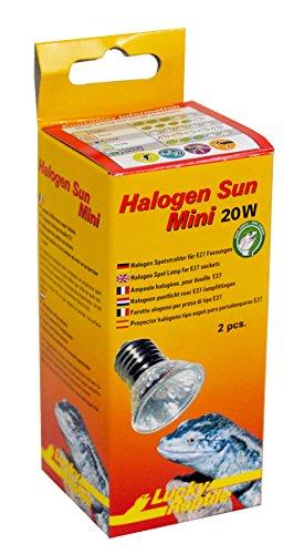 Lucky Reptile HSM-20 Halogen Sun Mini 20 W Doppelpackung, Wärmestrahler für E27 Fassung