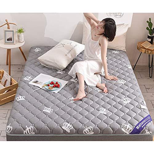 Alfombra de Tatami Japonesa,Plegable Colchón Suelo, Grueso Acolchado Suave Antiescaras Colchón futon Dormir Mat para Dormitorio Alcoba,B,1.35 * 2.0m ⭐