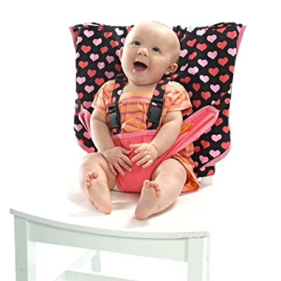 MY LITTLE SEAT Travel High Chair - All My Lovin' - The Original Portable High Chair For Travel - Travel High Chairs For Babies And Toddlers - Baby Seats For Sitting Up - Travel High Chair