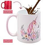 Onebttl Taza Unicornio, Taza Unicorn Cambiante, Tazas de Cafe, 11 Oz, lo Mejor para...