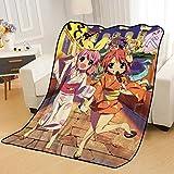 ZKPZYQ Mantas para Cama Manta de Anime Flip Flappers Papika Mantas Mantas Suaves y cálidas Manta de Franela Manta de sofá Mantas Mantas de Camping 80x120cm