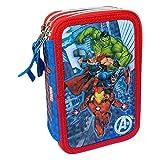 M.C. srl Astuccio Scuola 3D Avengers Marvel MULTISCOMPARTO 3 Zip PORTACOLORI PENNARELLI Giotto - AV0718