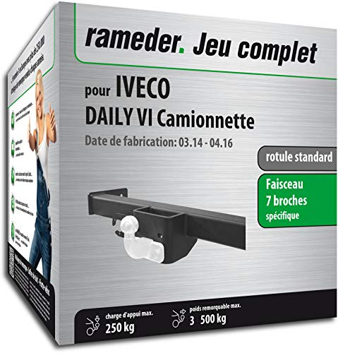 Rameder Pack, attelage rotule Standard 2 Trous livrée sans rotule + Faisceau 7 Broches Compatible avec IVECO Daily VI Camionnette (149639-13060-2-FR).