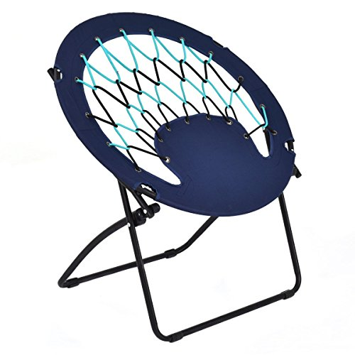 DreamHank Round Camping Folding Bungee Chair Comfortable Lightweight Portable Indoor Outdoor Use...