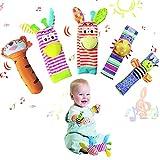 Yeelan Juguete Sonajero para Bebé,5PCS Calcetines de Sonajero para Bebé,...