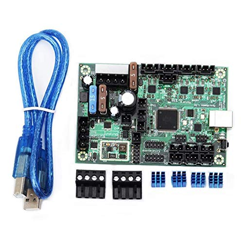 Printer Accessories Fit for 1PC DC 10-28V Mini-Rambo 1.3 Control Board Set Kit 3D Printer Part Fit for Prusa MK2 (Size : As pic) (Size : As pic)