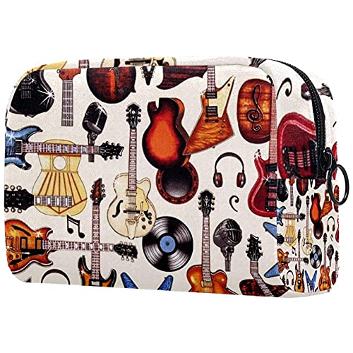 Bolsa cosmética compacta Bolsa de Maquillaje Monedero, Guitarras electricas