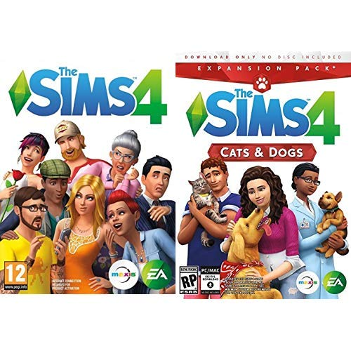 Sims 4 Starter-Pack: The Sims 4 (Base Game) + Cats & Dogs (EP) [PC Download - Origin Code]