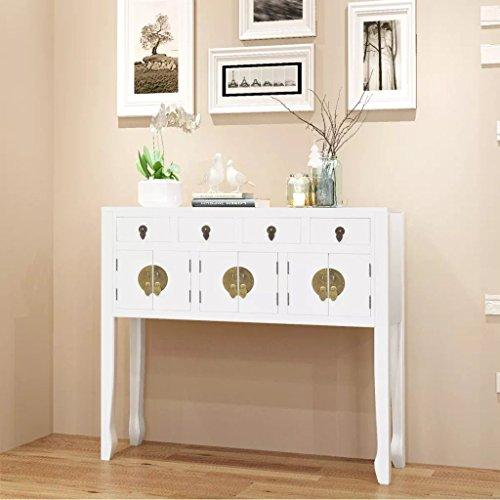 lingjiushopping Buffet en style chinois en bois massif blanche matériau : bois massif meuble