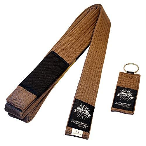 Choke&Chill BJJ Brazilian Jiu-Jitsu Belt Gürtel (Braun, A2 (280cm))