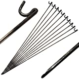 Oypla Stahlbarriere Fechten Pins 10mm x 1250mm 10er Pack