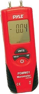 Manometer 11 Unit of Pressure - Meters Digital Measurement Maximum 10 PSI Data Hold & Error Code Measure Gauge Differential Gas Tester - Large LCD Backlit Dual Display w/Auto Power Off - PYLE PDMM01