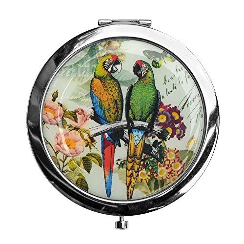 JOE COOL Kompaktspiegel Papageien mit Eisen