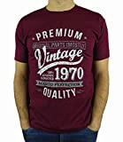 My Generation Gifts Vintage Year - Aged To Perfection - Regalo di Compleanno per 50 Anni Maglietta da Uomo Bordeaux XL