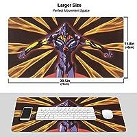 新世紀エヴァンゲリオン マウスパッド 光学マウス対応 パソコン 周辺機器 超大型 防水 洗える 滑り止め 高級感 耐久性が良い 40*75cm