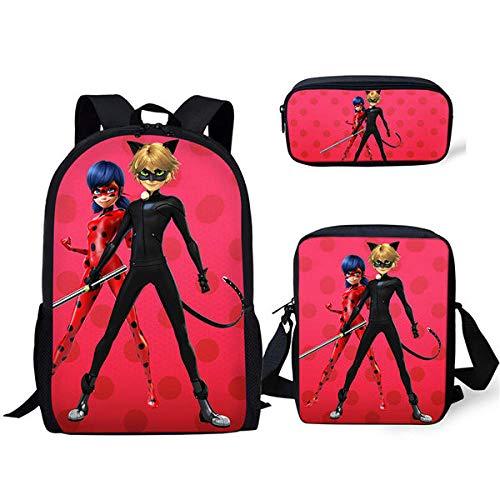 Unendlichkeit Mode 3 STÜCK/Cartoon Rucksack Kinder Schultasche Muster Lady-Bugs schüler Tasche Rucksack kit/Flap bags/Bleistift-CDWX2781CEK