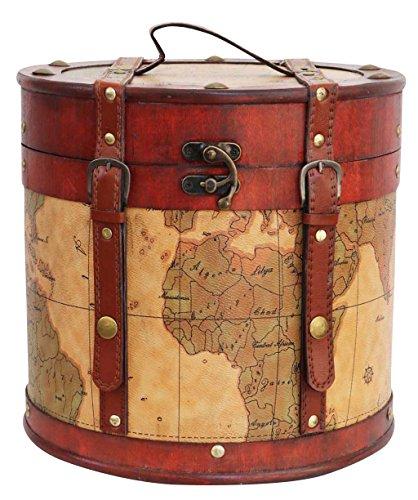 Aubaho Sombrerera 27cm Sombrerero Cajas para Sombrero Estilo Antiguo decoración