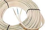 Gummi-Stegleitung NYIF-J 3x1,5mm² Kabel | 50m Ring, 3 adriges Installationskabel nach DIN VDE...