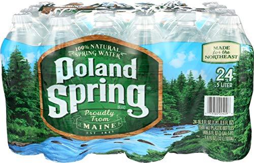 Poland Spring Brand 100% Natural Spring Water - 24pk/16.9 fl oz Bottles