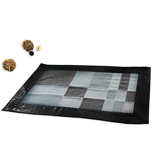 Black Temptation Area Rug, Non-Slip Patchwork Rug, Household Mat, 23x35...