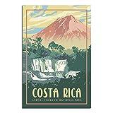 ZHBIN Arenal Volcano National Park Vintage Reise Poster