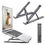 """OUGE Soporte para Portátil, Múltiples Ángulos Ajustable Soporte para OrdenadoTabletas, Ergonómico y Protector Ventilado Plegable para Macbook DELL, HP, PC otro10-15.6"""" Laptop"""