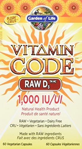 Garden of Life Vitamin Code Raw D3 1000 IU Vcaps, 60 Count