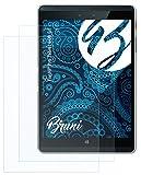 Bruni Schutzfolie kompatibel mit HP Pro Tablet 608 G1 Folie, glasklare Bildschirmschutzfolie (2X)