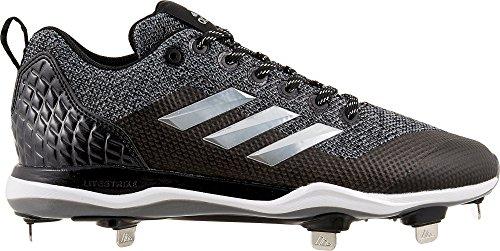 adidas Men's Poweralley 5 Metal Baseball Cleats (Grey/Black, 13 D (M) US)