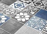 Adhesivos para Azulejos - Paquetes con 56 (10 x 10 cm, Azulejos para Baño y Cocina, Adhesivos para Pared, Azul y Gris, Impermeable, Decorativo, Ideas