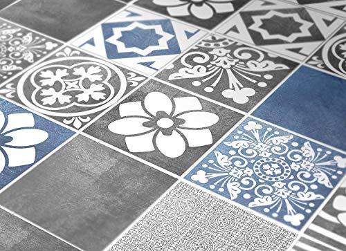 Adhesivos para Azulejos - Paquetes con 56 (10 x 10 cm, Azulejos para Baño y Cocina, Adhesivos para Pared, Azul y Gris, Impermeable, Decorativo, Ideas para Remodelar, Hazlo tu Mismo)