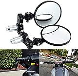HAWEE Espejos de Motocicleta Convexos Redondos Retrovisores Laterales Manillar 7/8' Espejos Reflectores Plegable para Motocicleta