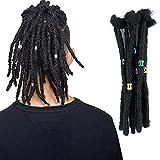 Dreadlock Extensions for Women/Men 20 Strands 8 inch Handmade Synthetic Reggae Braiding Hair for Fashion Hip-Hop Style Crochet Locs Dreads 1#