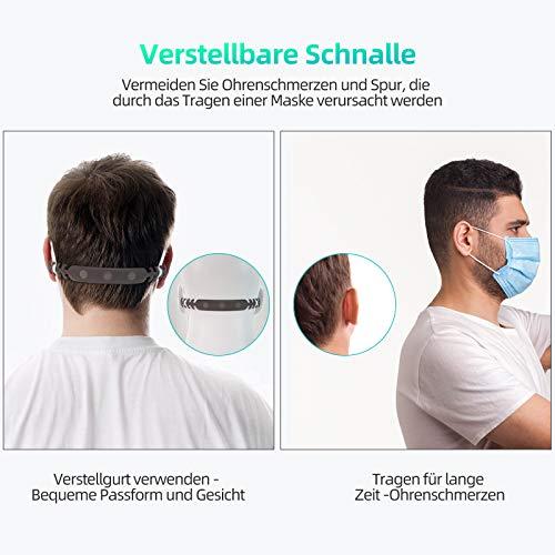 Maske 20 Stück Schutzmaske Atemschutzmaske, Mund-und Nasenschutz hautfreundlich und weich im Inneren, 5-lagige Staubschutzmaske Partikelfiltermaske, Zertifikat CE 0082 - 6