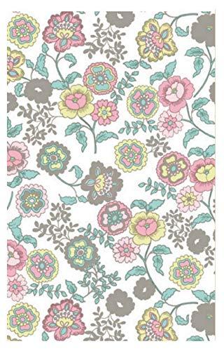 i.stHOME Klebefolie Möbelfolie Fleur White Blumen - Dekorfolie 45x200 cm - Selbstklebefolie - Selbstklebende Folie - Bastelfolie Kinder-Zimmer