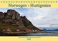 Norwegen - Hurtigruten (Tischkalender 2022 DIN A5 quer): Mit dem Postschiff entlang Norwegens Kueste (Monatskalender, 14 Seiten )