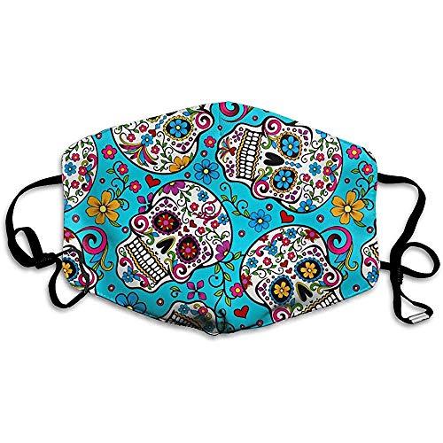 Gezichtsmaskers Mundabbedekking kleuren Dia De Muertos schedel wasbaar en herbruikbaar masker warm winddicht
