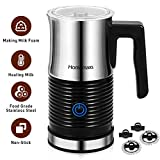 Homemaxs Milk Frother, Electric Milk Frother, Automatic Milk Frother & Warmer, Food Grade Stainless Steel Jug, Non-Stick, Auto shut-off, Prevent Breast Milk, Steamer for Making Latte, Cappuccino, Hot Chocolate