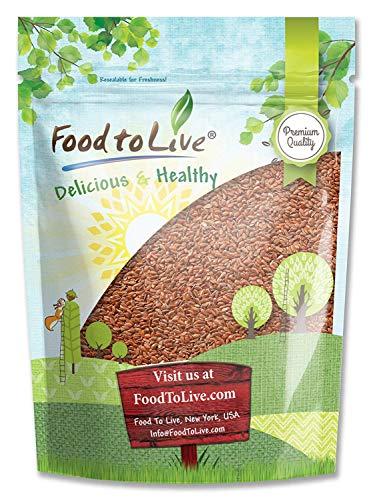 Brown Flaxseed, 4 Pounds - Raw Whole Flaxseed, Kosher, Vegan, Bulk, High Fiber Food, Omega 3