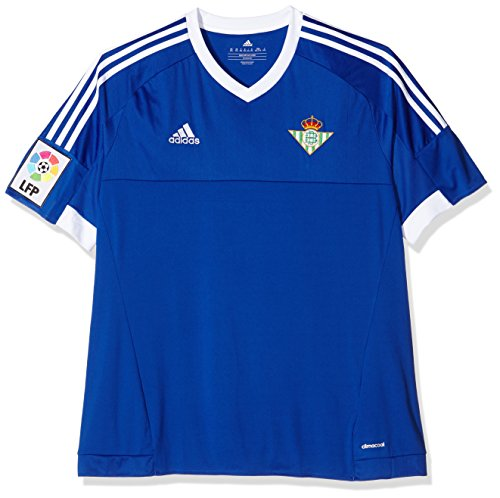 adidas 3 JSY Camiseta Real Betis Balompie 1ª Equipación 2015-2016, Hombre, Azul/Blanco (Azufue/Blanco), 140