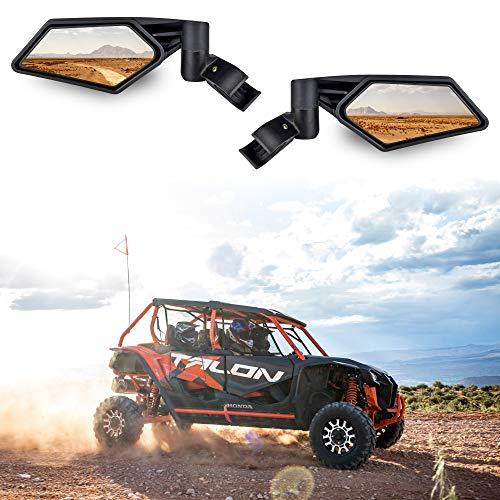 Adjustable Folding Side View Mirrors, SAUTVS Clear Rear View Side Mirrors for 2019-2020 Honda Talon 1000R 1000X 1000X4