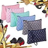 25 # Bolsa de cosméticos de gran capacidad de algodón y lino Bolsa de cosméticos de viaje multifunción Estuche de lápices de color sólido Bolsa de almacenamiento de maquillaje-Amarillo
