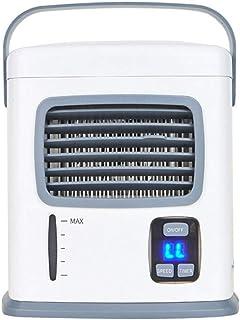 LHQ-HQ Humidificador for Personal Mesa de Escritorio del Ventilador mesita de Noche del Dormitorio Oficina Espacio refrigerador de Aire portátil USB Mini acondicionador de Aire del Ventilador (Color: