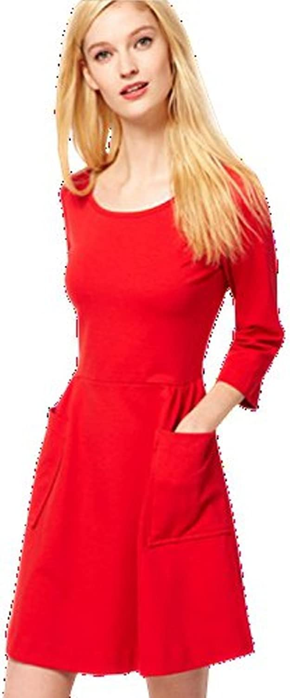 Unomatch Women's Autumn Fashion Aline Mini Skirt Dress Red
