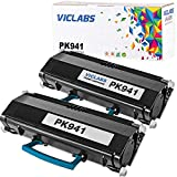 VicLabs Compatible Toner Cartridge Replacement for Dell PK941 2330DN 2330D 2350DN 2330DTN 2330 2350D 2350 Toner Cartridge High Yield 6,000 Pages (Black, 2-Pack)